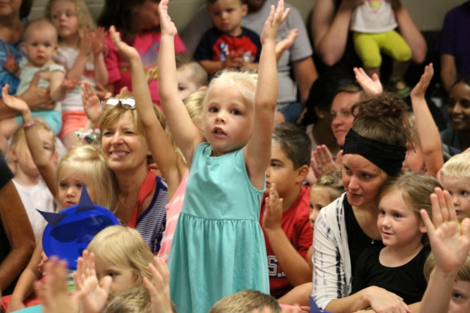Kid enjoys the Lima Symphony Orchestra's Symphony Storytime, funded partially by a TCF grant